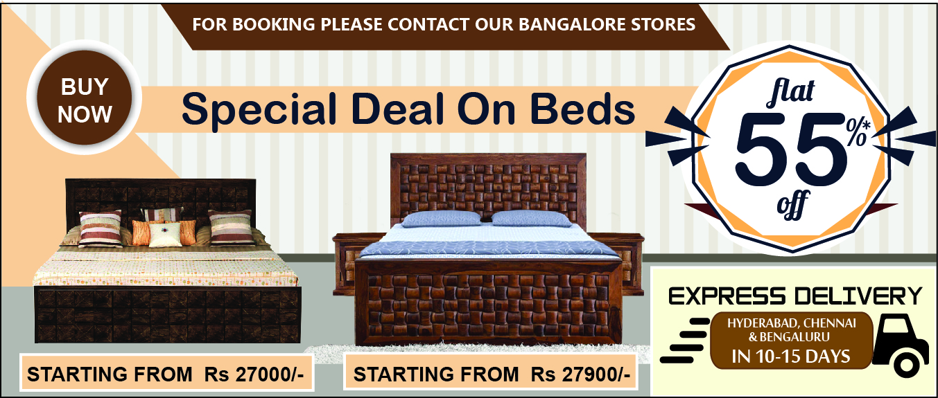 Sale Flat 55% OFF on Beds