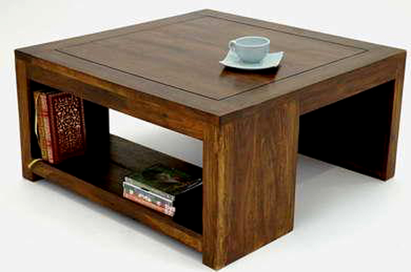 Natural living furniture wooden sheesham hardwood for Centre table designs for living room